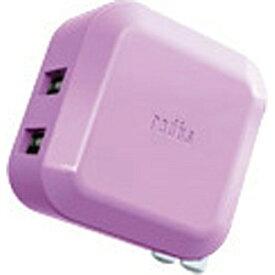 ラディウス radius スマホ用USB充電コンセントアダプタ2.4A バイオレット RK-ADA02V [2ポート][RKADA02V]