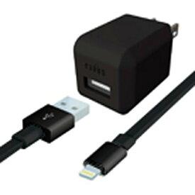 ラディウス radius AC充電器+Lightningケーブル 0.8m ブラック AL-ADA61K [USB給電対応 /1ポート][ALADA61K]