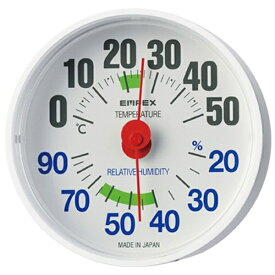 エンペックス EMPEX INSTRUMENTS 【ビックカメラグループオリジナル】温湿度計 「ルシード」 BC3651(ホワイト)[BC3651]【point_rb】