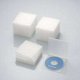 エレコム ELECOM CD/DVD/Blu-ray対応スリムケース 1枚収納×50 クリア CCD-JPCS50CR[CCDJPCS50CR]【rb_pcp】