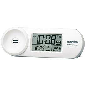 セイコー SEIKO 目覚まし時計 【RAIDEN(ライデン)】 白パール NR532W [デジタル /電波自動受信機能有][目覚まし時計 電波 大音量 デジタル NR532W]