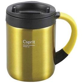 キャプテンスタッグ CAPTAIN STAG シーエスプリ ダブルステンレスマグカップ280(イエロー) M5367