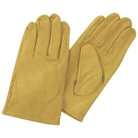 トラスコ中山 袖なし革手袋 クレスト牛革製 フリーサイズ イエロー TYKKY
