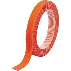 トラスコ中山 マジックバンド結束テープ 両面 幅10mmX長さ1.5m オレンジ MKT1015OR