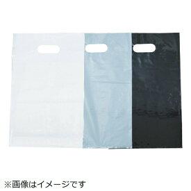 トラスコ中山 カラーポリ手提げ袋M 0.08X300X450 白 20枚入 F3045W