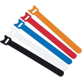 トラスコ中山 マジックバンド 超薄型 ストラップ 20cm 白 MKSH2520W (1袋5本)