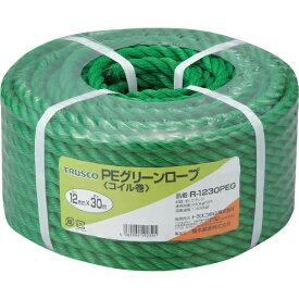 トラスコ中山 PEグリーンロープ 3つ打 線径12mmX長さ30m R1230PEG