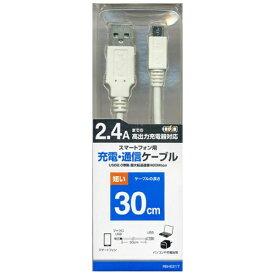 ラスタバナナ RastaBanana [micro USB]USBケーブル 充電・転送 (30cm・ホワイト)RBHE217 [0.3m]