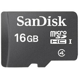 サンディスク SanDisk microSDHCカード スタンダードシリーズ SDSDQ-016G-J35U [16GB /Class4][SDSDQ016GJ35U]