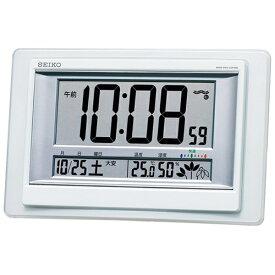 セイコー SEIKO 掛け置き兼用時計 白パール SQ432W [電波自動受信機能有]