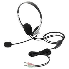 エレコム ELECOM HS-HP22SV ヘッドセット シルバー[φ3.5mmミニプラグ /両耳 /ヘッドバンドタイプ][HSHP22SV]