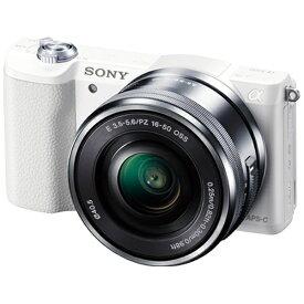 ソニー SONY ILCE-5100L-W ミラーレス一眼カメラ パワーズームレンズキット α5100 ホワイト [ズームレンズ][ILCE5100LW]