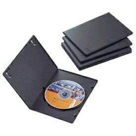 エレコム ELECOM スリムDVDトールケース 1枚収納×5 ブラック CCD-DVDS02BK[CCDDVDS02BK]