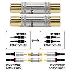 オーディオテクニカ オーディオ中継プラグ(RCA⇔RCA) 2個1組 AT517CP