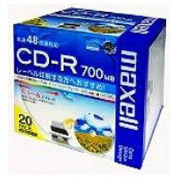 マクセル Maxell 48倍速対応 データ用CD-Rメディア(700MB・20枚) CDR700S.WP.S1P20S[CDR700SWPS1P20S]