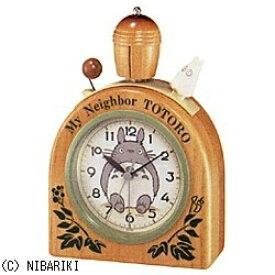 リズム時計 RHYTHM 目覚まし時計 となりのトトロ 木地仕上 4RA455MN06 [アナログ]