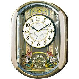 セイコー SEIKO からくり時計 【ウェーブシンフォニー】 薄ピンクマーブル模様 RE567G [電波自動受信機能有]