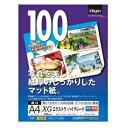 ナカバヤシ Digio カラーインクジェット用紙[エクストラ・ハイグレード](A4・100枚) JPXG-A4N[JPXGA4N]
