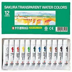 サクラクレパス SAKURA COLOR PRODUCT [透明水彩] 透明水彩12色ラミネートチューブ入り OW12[OW12]