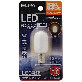 ELPA エルパ LDT1L-G-E12-G101 LED装飾電球 LEDエルパボールmini ホワイト [E12 /電球色 /1個 /ナツメ球形][LDT1LGE12G101]