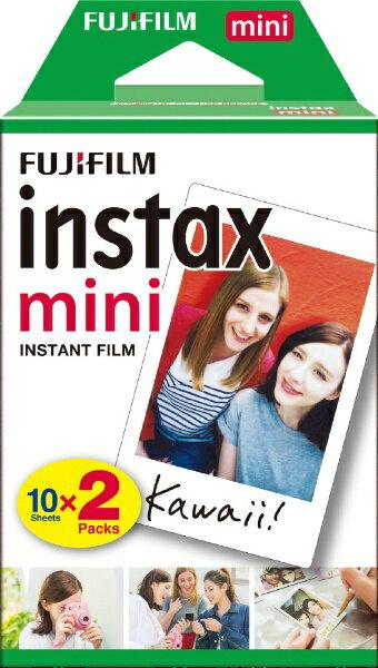 フジフイルム FUJIFILM チェキ インスタントカラーフィルム instax mini 2パック(10枚入×2)[生産完了品 在庫限り]