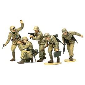 タミヤ TAMIYA 1/35 ミリタリーミニチュアシリーズ No.314 ドイツ アフリカ軍団歩兵セット【代金引換配送不可】