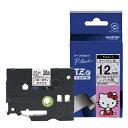 ブラザー brother ピータッチ(P-touch) キャラクターテープ TZe TAPE ハローキティホワイト TZe-HW31 [黒文字 /12mm幅][TZEHW31]