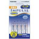 東芝 TOSHIBA TNHC-34AH 充電器 IMPULSE [充電器+充電池 /単3形4本 /単3形〜単4形兼用][TNHC34AH]