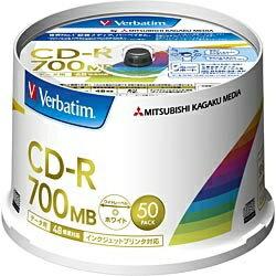 三菱化学メディア 48倍速対応 データ用CD-Rメディア(700MB・50枚) SR80FP50V2