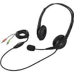 BUFFALO バッファロー BSHSH07BK ヘッドセット ブラック [φ3.5mmミニプラグ /両耳 /ヘッドバンドタイプ]