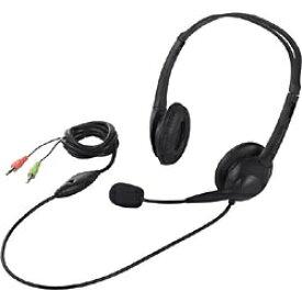 BUFFALO バッファロー ヘッドセット ブラック BSHSH07BK [φ3.5mmミニプラグ /両耳 /ヘッドバンドタイプ]