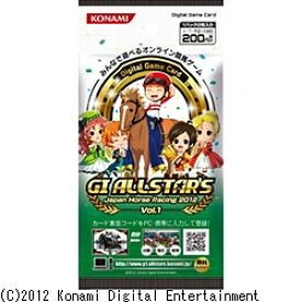 コナミデジタルエンタテイメント Konami Digital Entertainment 【パック単位販売】Digital Game Card GI ALLSTAR'S Japan Horse Racing 2012 Vol.1[DGCGIALLSTARS2012VOL]