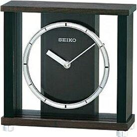 セイコー SEIKO 置き時計 スタンダード 濃茶木 BZ356B