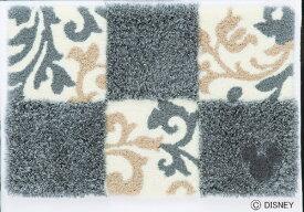 スミノエ SUMINOE 玄関マット ミッキー/チェッカーボード(50×80cm/グレー)【日本製】[DMM402750X80]
