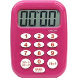 CRECER クレセル 時計付デジタルタイマー 「ビビッド」 CT-500P ピンク[CT500P]