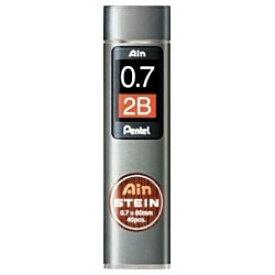 ぺんてる Pentel [シャープ替芯] Ain 替芯 シュタイン (硬度:2B、芯径:0.7mm、40本入り) C277-2B[C2772B]