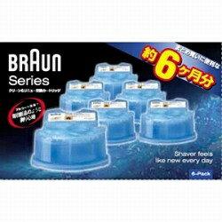 ブラウン BRAUN クリーン&リニューシステム専用洗浄液カートリッジ(6個入) CCR6-CR[CCR6]