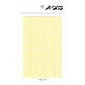 エーワン A-one カラーラベル 14列×24段 白 07690 [4シート /336面 /光沢]【aoneC2009】