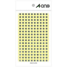 エーワン A-one カラーラベル 銀 07072 [6シート /180面 /光沢]【aoneC2009】