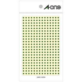 エーワン A-one カラーラベル 緑 07683 [4シート /336面 /光沢]【aoneC2009】