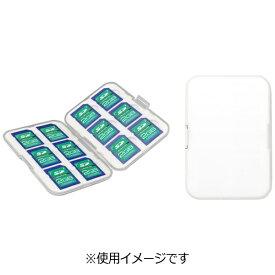 グリーンハウス GREEN HOUSE SDカードケース 12枚収納 GH-CA-SD12W[GHCASD12W]