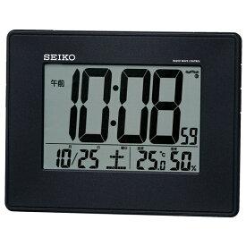 セイコー SEIKO 目覚まし時計 黒メタリック SQ770K [デジタル /電波自動受信機能有]