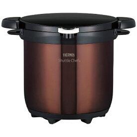 サーモス THERMOS KBG-4500-CBW 真空保温調理器 (4.5L) シャトルシェフ クリアブラウン[KBG4500]