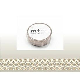カモ井加工紙 KAMOI mt マスキングテープ(麻の葉・真鍮) MT01D214