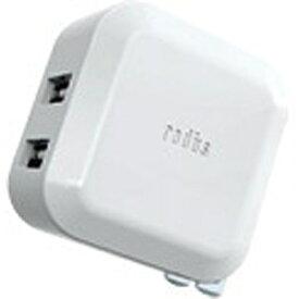 ラディウス radius スマホ用USB充電コンセントアダプタ2.4A ホワイト RK-ADA02W [2ポート][RKADA02W]