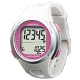 山佐時計計器 YAMASA TM-500-WP 歩数計 ウォッチ万歩計 WATCH MANPO ホワイト×ピンク [手首式][TM500]