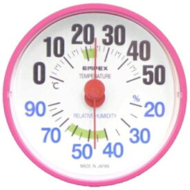 エンペックス EMPEX INSTRUMENTS 【ビックカメラグループオリジナル】温湿度計 「ルシード」 BC3655(ピンク)[BC3655]【point_rb】