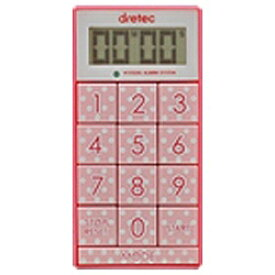 ドリテック dretec デジタルタイマー「スリムキューブ」 T-520PK ピンク[T520]【rb_pcp】