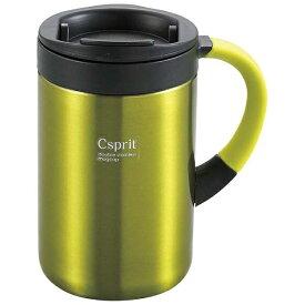 キャプテンスタッグ CAPTAIN STAG シーエスプリ ダブルステンレスマグカップ350(ライムグリーン) M5379