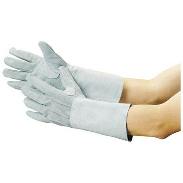 トラスコ中山 牛床革手袋 袖長タイプ フリーサイズ JT5L